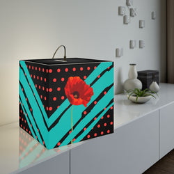 Poppy Dot Tiffany on Black Light Cube | Just Abi Housewares Collection