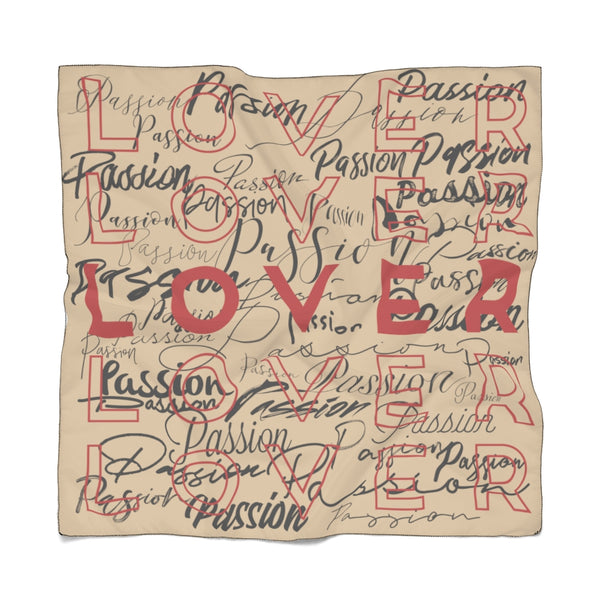 Passion Lover Sand Poly Scarf | Just Abi Collection