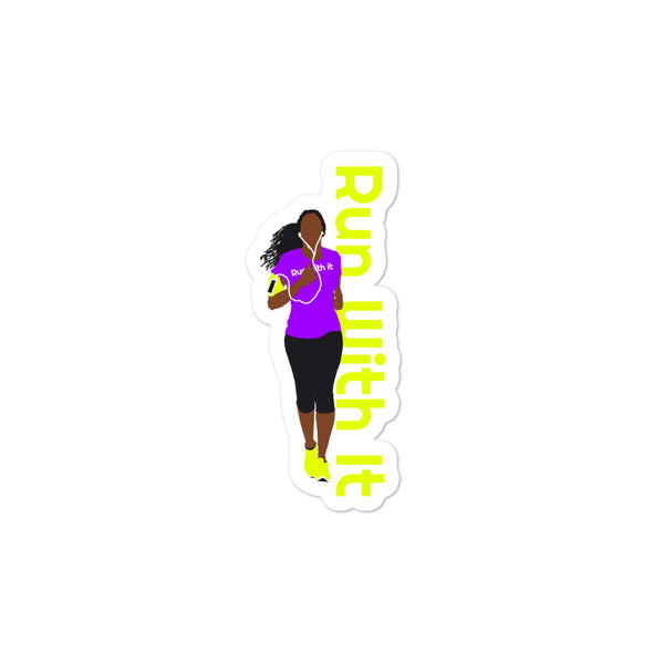 Run With It - Deirdre | Opaque Vinyl Bubble-Free Stickers | Just Abi Athletic Collection
