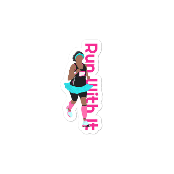 Run With It - Charlie | Opaque Vinyl Bubble Free - Stickers | Just Abi Athletic Collection