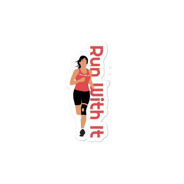 Run With It - Jen | Opaque Vinyl Bubble-Free Stickers | Just Abi Athletic Collection