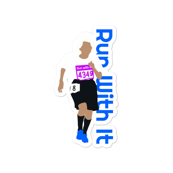 Run With It - Rita | Opaque Vinyl Bubble-Free Stickers | Just Abi Athletic Collection
