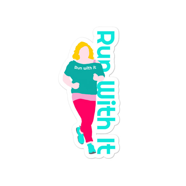 Run With It - Kristin | Opaque Vinyl Bubble-Free Stickers | Just Abi Athletic Collection