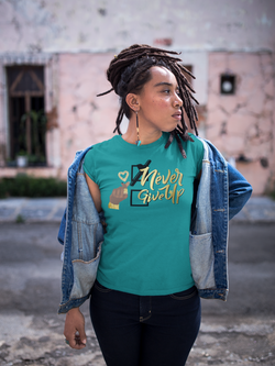 Never Give Up Women's Premium T-Shirt
