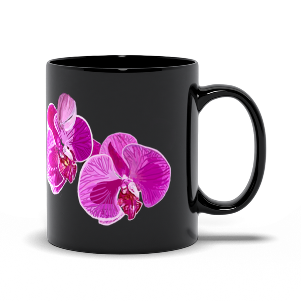 Black Orchid 11oz and 15oz Mugs | Just Abi Housewares Collection