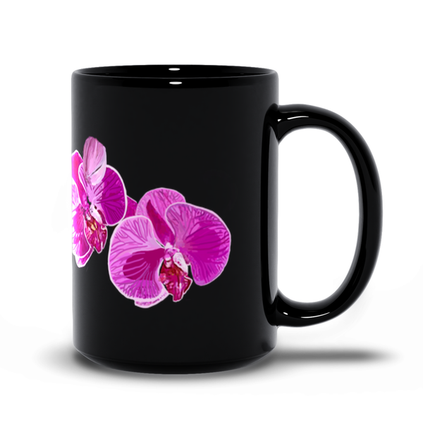 Black Orchid 11oz and 15oz Mugs | Just Abi Collection