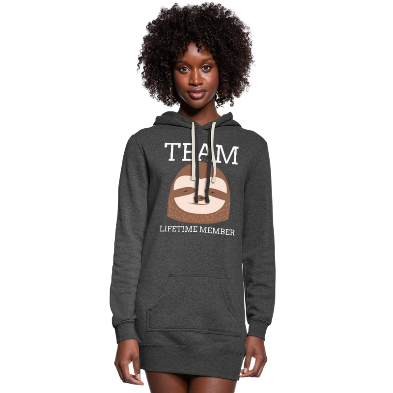 Team Sloth Women's Hoodie Dress - heather black