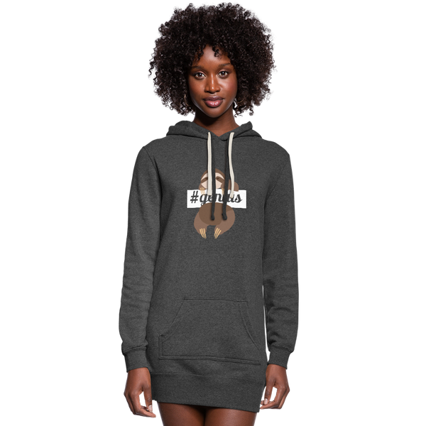 #genuis Sloth Women's Hoodie Dress - heather black