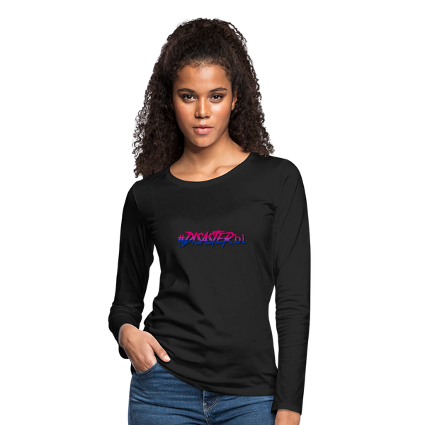 Disaster Bi Women's Long Sleeve T-Shirt - black