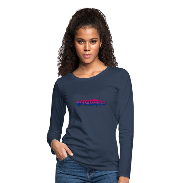 Disaster Bi Women's Long Sleeve T-Shirt - navy