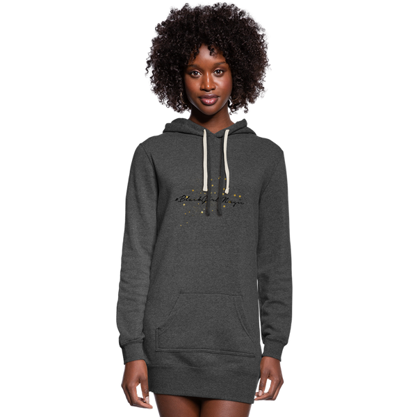 #BlackGirlMagic Women's Hoodie Dress - heather black