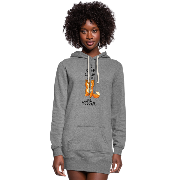 Keep Calm and Do Yoga Women's Hoodie Dress - heather gray