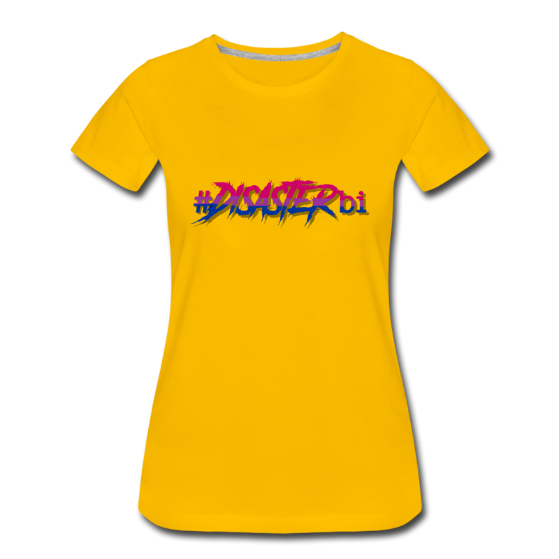 Disaster Bi Premium T-Shirt - sun yellow