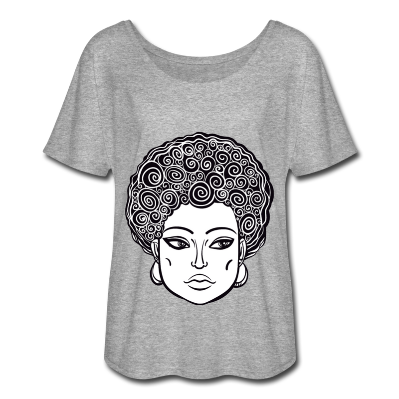 Kadejah Klimt Flowy T-Shirt - heather gray