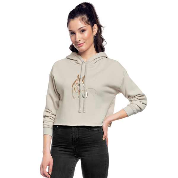 Lovely Horse Cropped Hoodie | Abi C Designs - dust