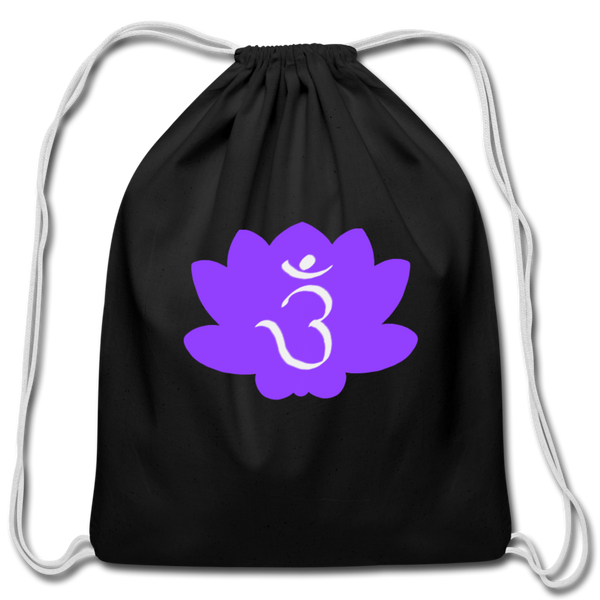 Strike a Pose - 3rd Eye Chakra | Cotton Drawstring Bag - black