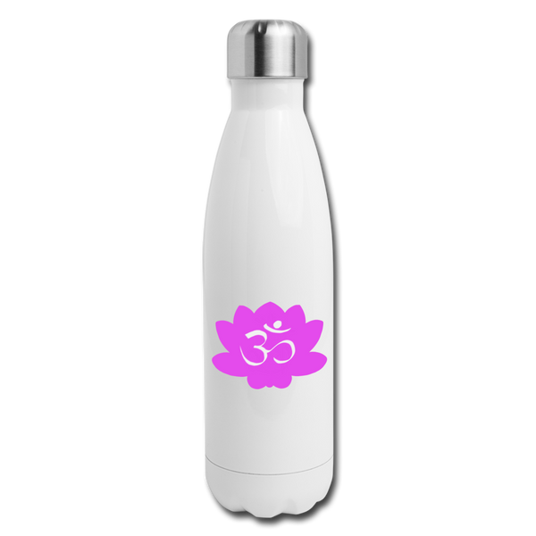 Crown Chakra Insulated Stainless Steel Water Bottle | Abi C Designs - white