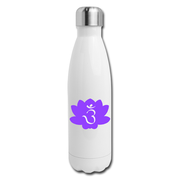3rd Eye Chakra Insulated Stainless Steel Water Bottle | Abi C Designs - white
