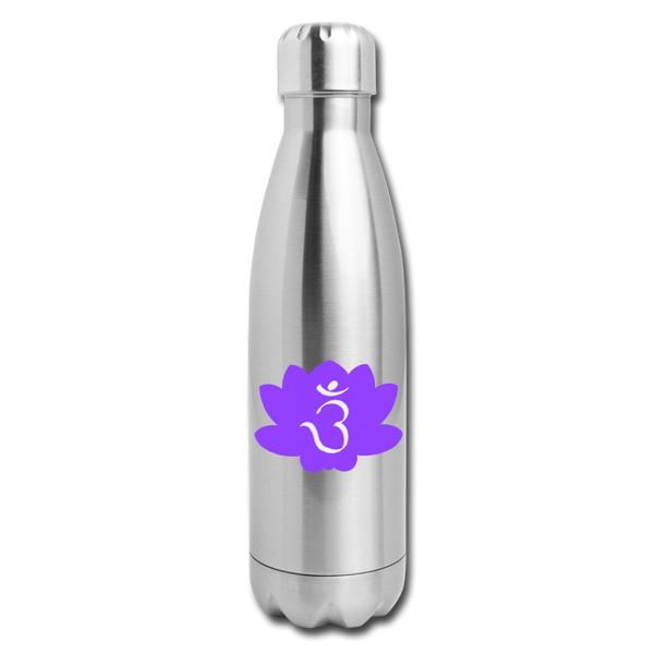 3rd Eye Chakra Insulated Stainless Steel Water Bottle | Abi C Designs - silver