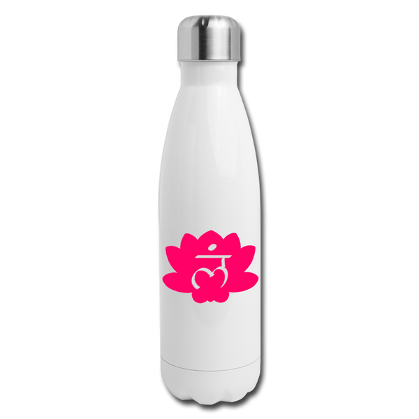 Root Chakra Insulated Stainless Steel Water Bottle | Abi C Designs - white