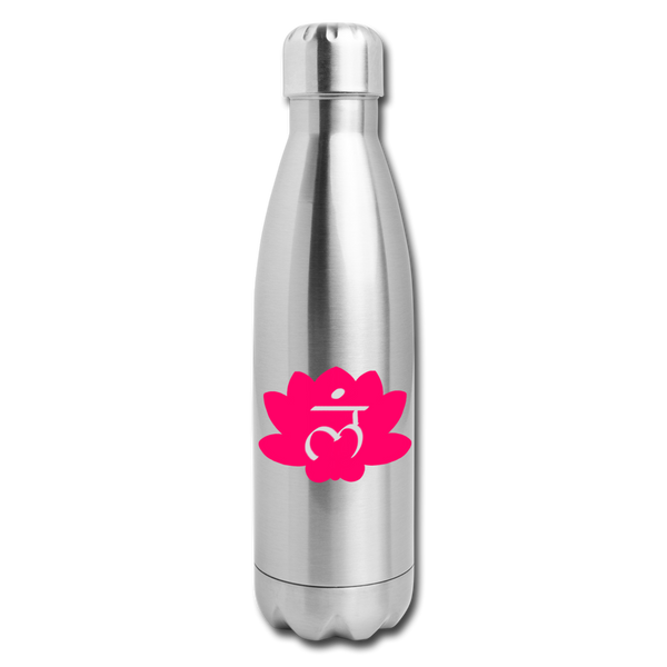 Root Chakra Insulated Stainless Steel Water Bottle | Abi C Designs - silver