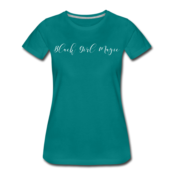 Black Girl Magic Premium T-Shirt | Abi C Designs - teal