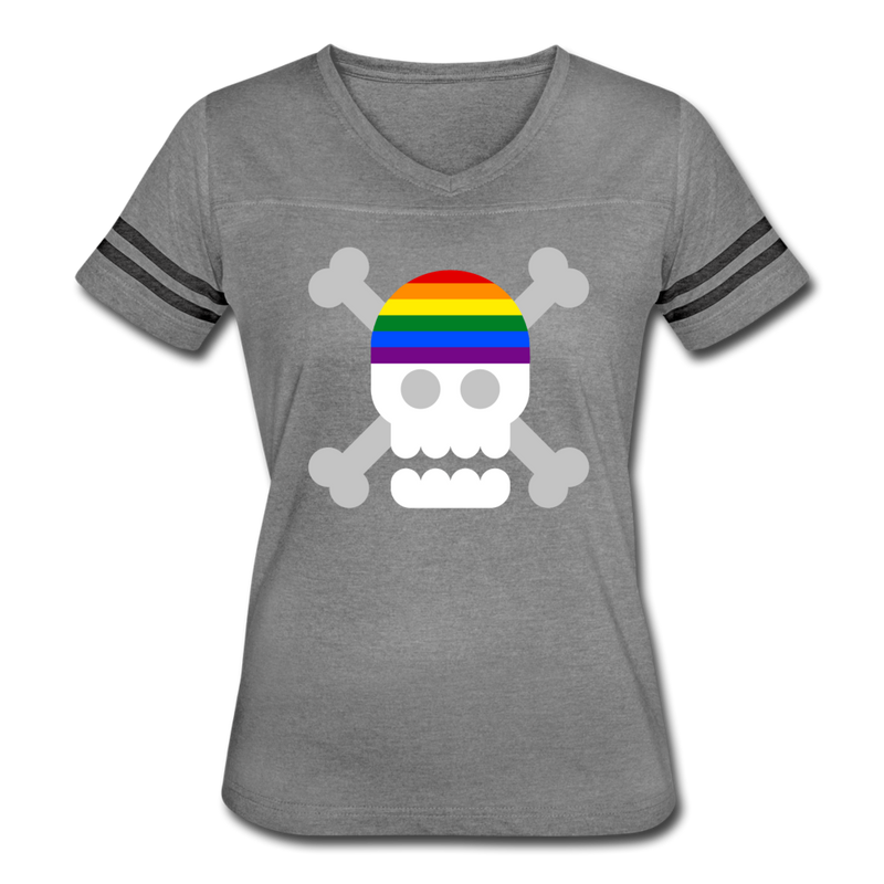 Rainbow Pirate Vintage Sport T-Shirt - heather gray/charcoal
