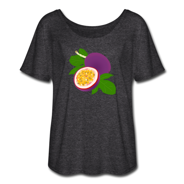 Passion Fruit Flowy T-Shirt | Abi C Designs - charcoal gray