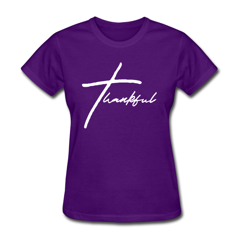 Thankful Tee | Abi C Designs - purple