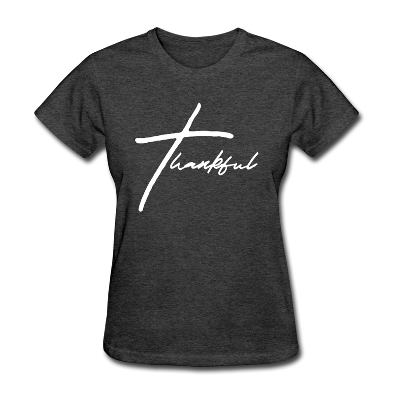 Thankful Tee | Abi C Designs - heather black