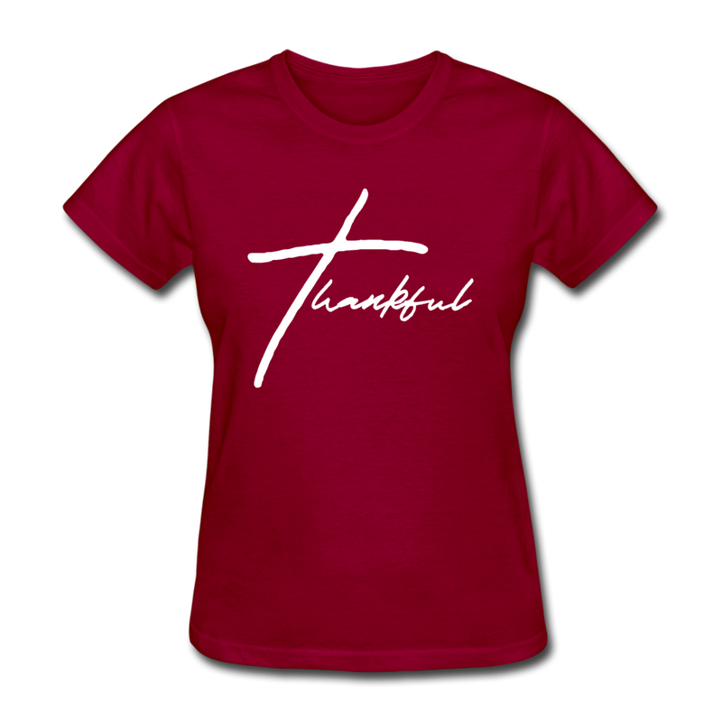 Thankful Tee | Abi C Designs - dark red