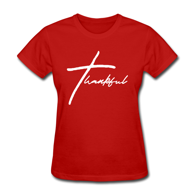 Thankful Tee | Abi C Designs - red
