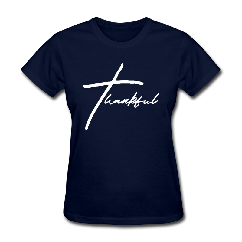 Thankful Tee | Abi C Designs - navy