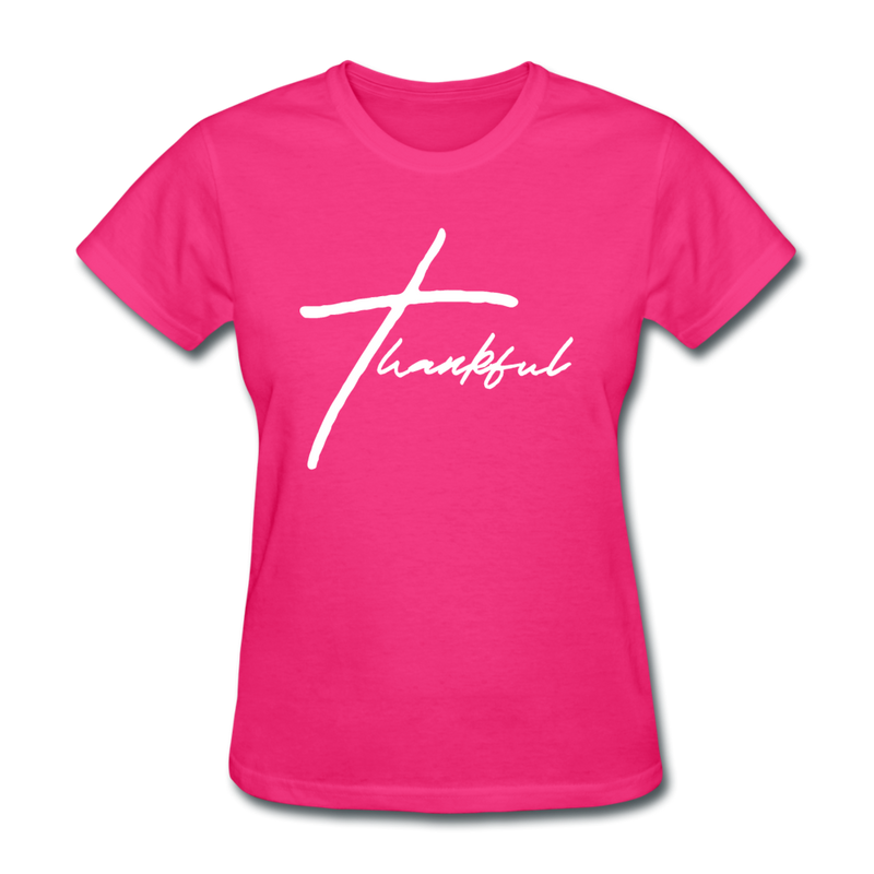 Thankful Tee | Abi C Designs - fuchsia