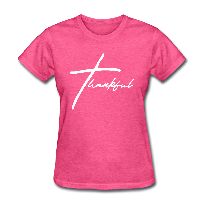 Thankful Tee | Abi C Designs - heather pink