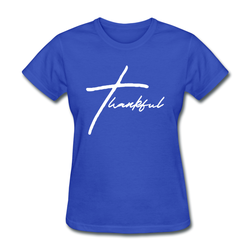 Thankful Tee | Abi C Designs - royal blue