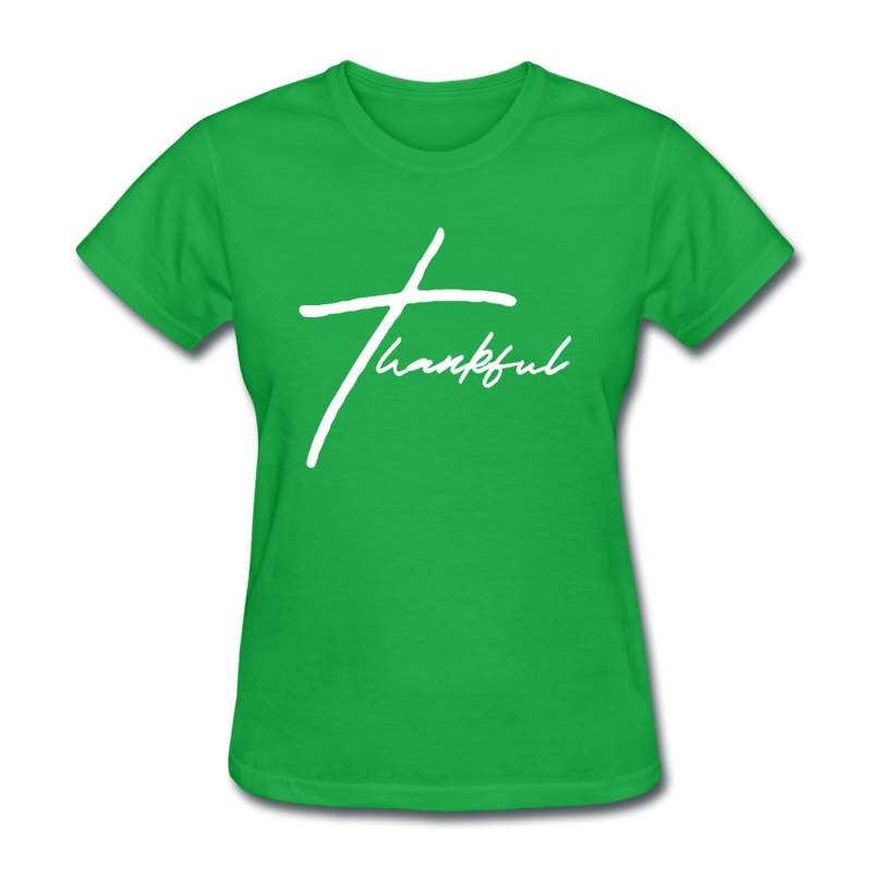 Thankful Tee | Abi C Designs - bright green