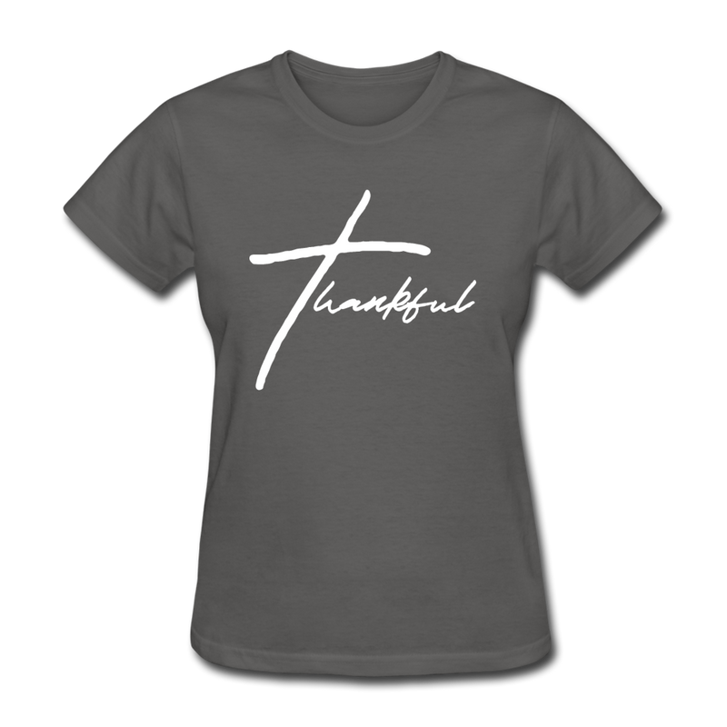 Thankful Tee | Abi C Designs - charcoal