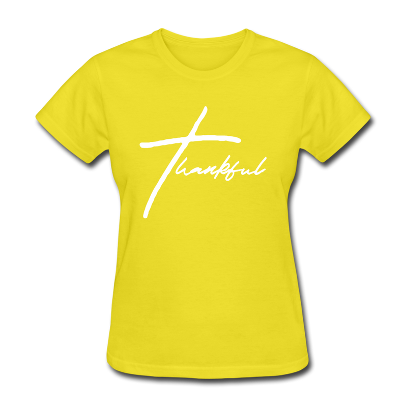 Thankful Tee | Abi C Designs - yellow