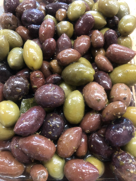 Greek Blend Olives Blend with Pits (Pick-Up Only)