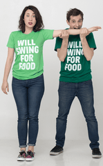 Will Swing For Food Women Tee
