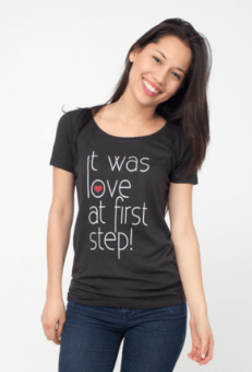 Love at First Step Elegant Women Tee