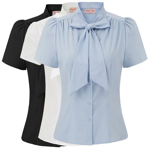 Mery Poppins Bow -  Lindy Basics Womens Blouse
