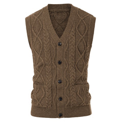 The Reader  -  Men Knitted Vest