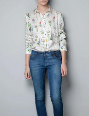 The Botanical Shirt - Women Chiffon Blouse