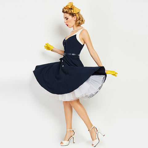 Hey ba ba re bop - Woman Navy Dress