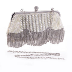 Charleston - Women Rhinestone Tassel Clutch/ShoulderBag