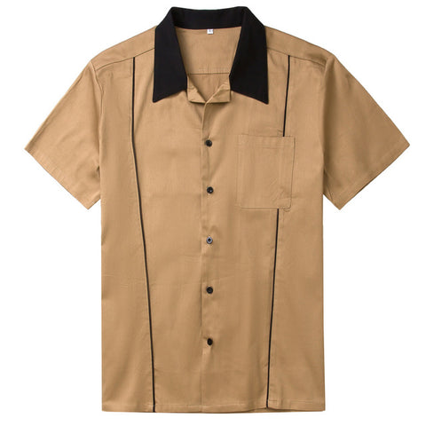Camel - Vintage 50s Shirt for Men