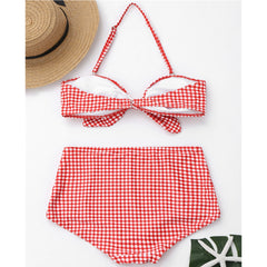 Los Angeles - Women Wigh Waist Buttons Bikini