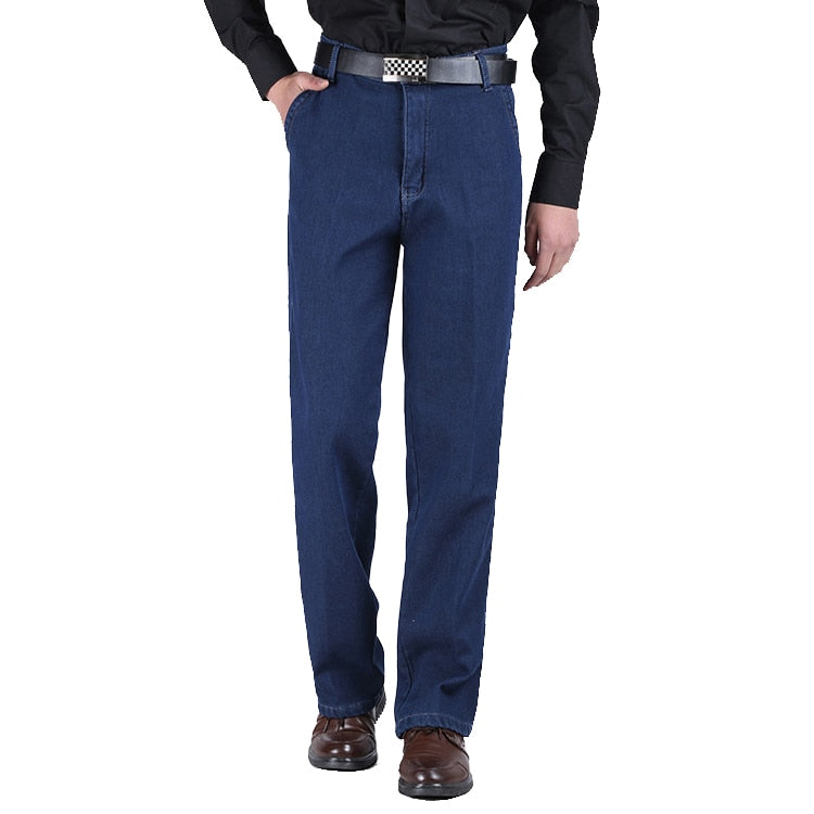 Retro Looking Blue Winter Jeans for Men
